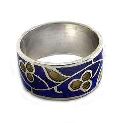 925 Sterling Silver Enamel Ring
