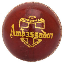 BDM Ambassador Red Cricket Leather Ball