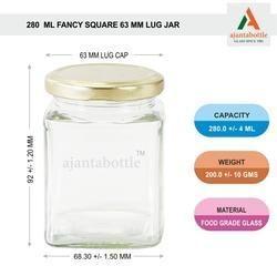 280 Ml Square Jar