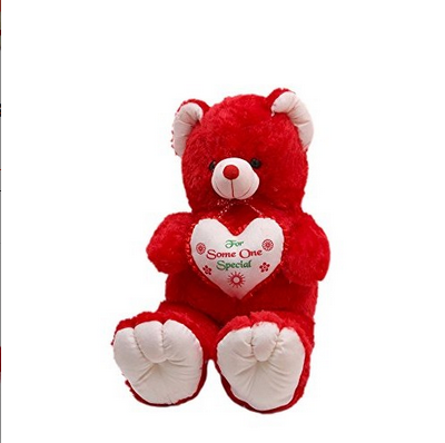 16cd59a30 ToYBULK customized Toy s Manufacturing Classic Teddy Bear With Heart 2.5  Feet - 75 Cm Red Color