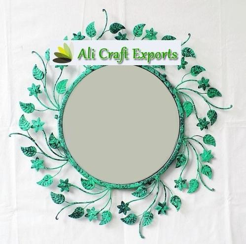 Metal Wall Mirror - Wall Decorative Mirror Manufacturer from Moradabad