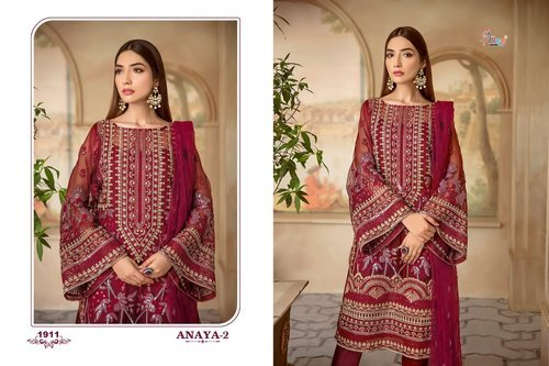 21627d4bf4 SHREE FABS - ANAYA VOL 2 SHREE FABS ORGANZA FABRIC PAKISTANI SALWAR ...