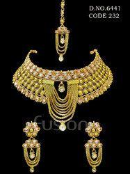 Traditional Kundan Antique Choker Necklace Set