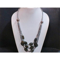 Labradorite Gemstone Beaded Necklace
