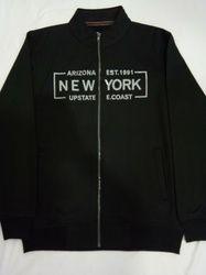 Zipper Printed Sweat Shirt