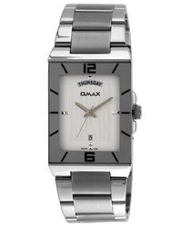 Omax Analog White Dial Men's Watch - SS396