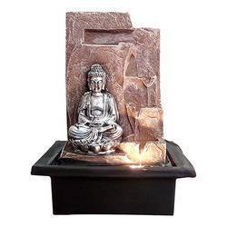 Lord Buddha in Meditation Posture Water Fountain with LED
