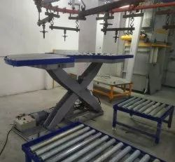 Hydraulic Scissor Lift with Rollers