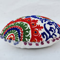 Embroidered  Round Cushion
