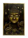 Mural Wall Painting -Metallic Buddha
