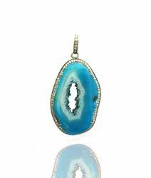 Designer pendants blue agate pendant exporter from jaipur blue agate pendant aloadofball Image collections