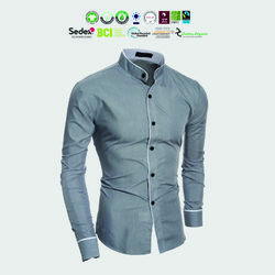 Organic cotton Mens woven garments Manufacturer