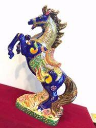 Meena Standing Horse Statue