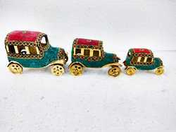 Brass Car With Stone Work