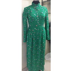 Ladies Green Gown