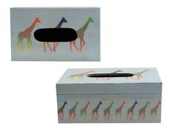 MDF Wood Tissue Box