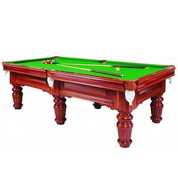 Antique Pool Table with Super Pool Cloth