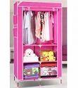 90 cm  Pink Foldable Fabric Wardrobe