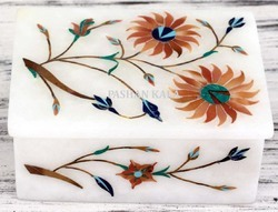 Inlaid Marble Jewellery Box