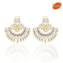 Pearl White Stone Earring