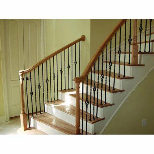 Wood Metal Stair Railing