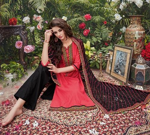 Cotton Embroidery Salwar Kameez