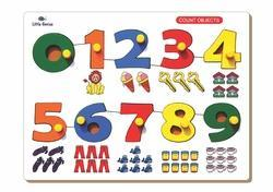 Number Match Objects Puzzle With Knob