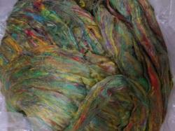 Pulled Silk Fibers For Spinners, Weavers And For Yarn Stores