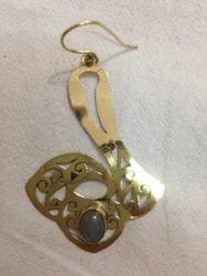 Brass Diamond Earring