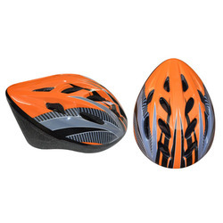 Cycling Helmets for adults, W/N 1078 certified, 54-60 cms, Orange/Black/Silver