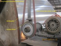 Fine Grinding Polishing on MG Cylinder