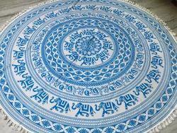 Wholesale Elephant Round Mandala Tapestry Colorful Yoga