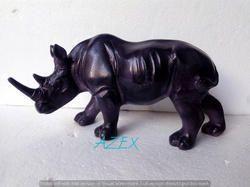 Antique Rhino Statue