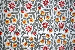 Hand Block Cotton Fabric Jaipuri Printed Floral Printed Fabric Indian Printed