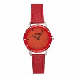 Vespl Analog Red Dial Women's Watch (VW7003)- Lo-Colors-