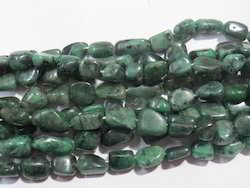 Natural Genuine Emerald Tumble Stone Beads