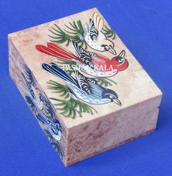 Soapstone Painted Jewelry Box