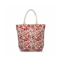 Juteberry White Bag Red Floral Print