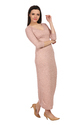 Ladies Plain Lino Maxi Dress