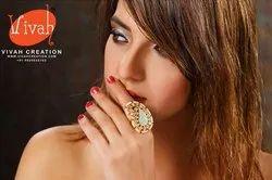 Kundan Meena Finger Rings