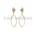 Diamond Gold Marquise Earrings