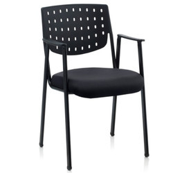 Black Color Non Revolving Visitor Chair