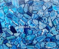 Natural Blue Agate Tiles