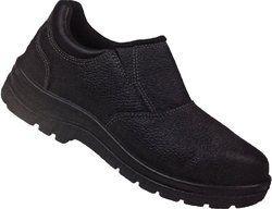 Ladies Safety Shoe Slip On Steel Toe Black