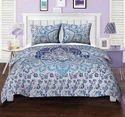 Blue White Floral Mandala Duvet Quilt Cover