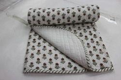 Hand Block Print Cotton Baby Quilt