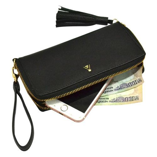 Womens Wallet - Black Leather Wallet For Women Manufacturer from New Delhi f9a9195c36450