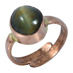 Natural Cat's Eye Stone Original Lehsuniya Gemstone Ring