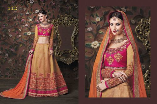 Beige Heavy Party Wear Lehenga Lehanga Choli