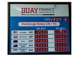 Currency Display Boards Manufacturers Suppliers Amp Exporters